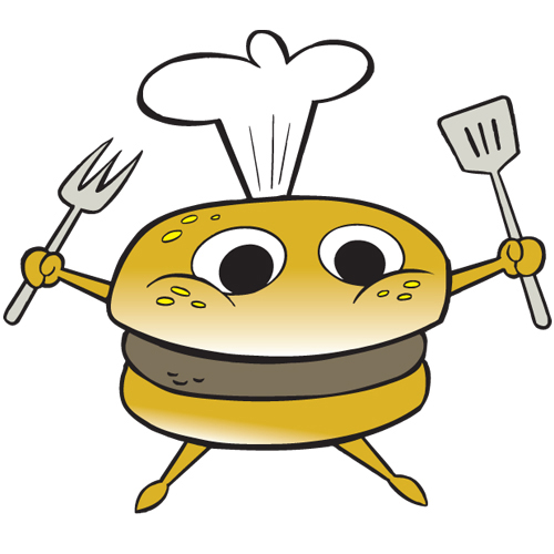 Cute Character Chef Hamburger Characters Uncategorized