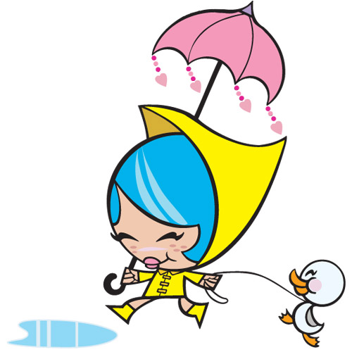 cute_character_Girl-and-Pet-Ducky